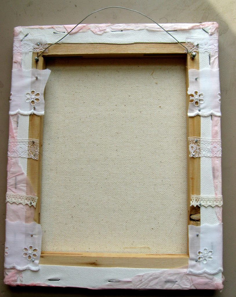 Canvas Earring Holder
