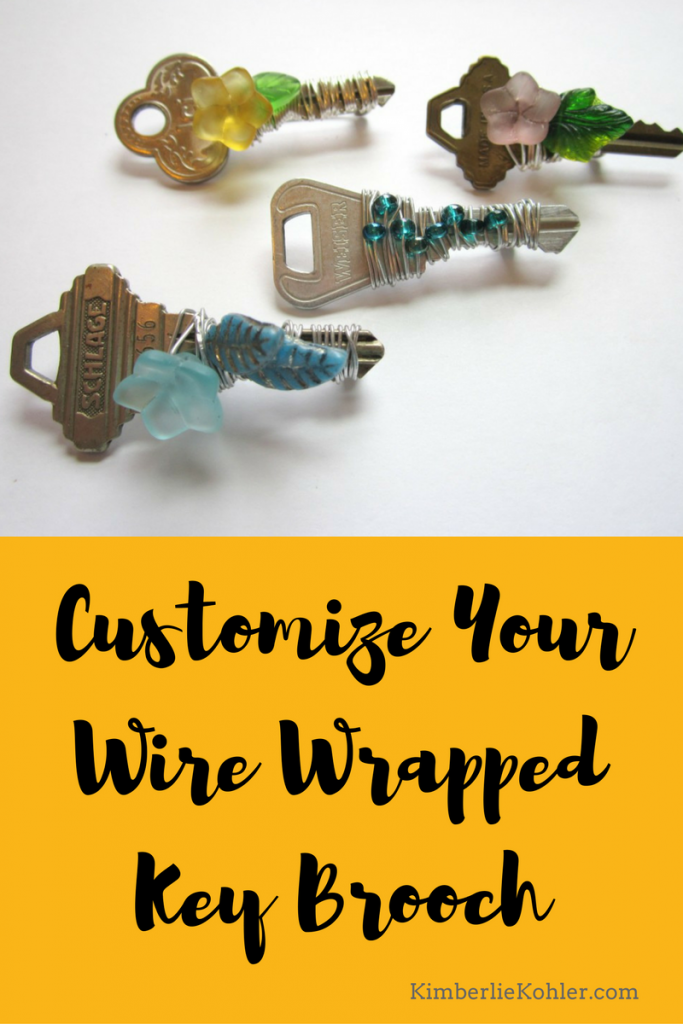 Customize Your Wire Wrapped Key Brooch