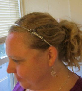 Wire Wrapped Key Headband Tutorial