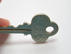 picking out a key for key brooch project