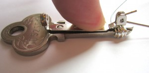 add pin to key brooch