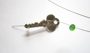 adding a bead to key brooch