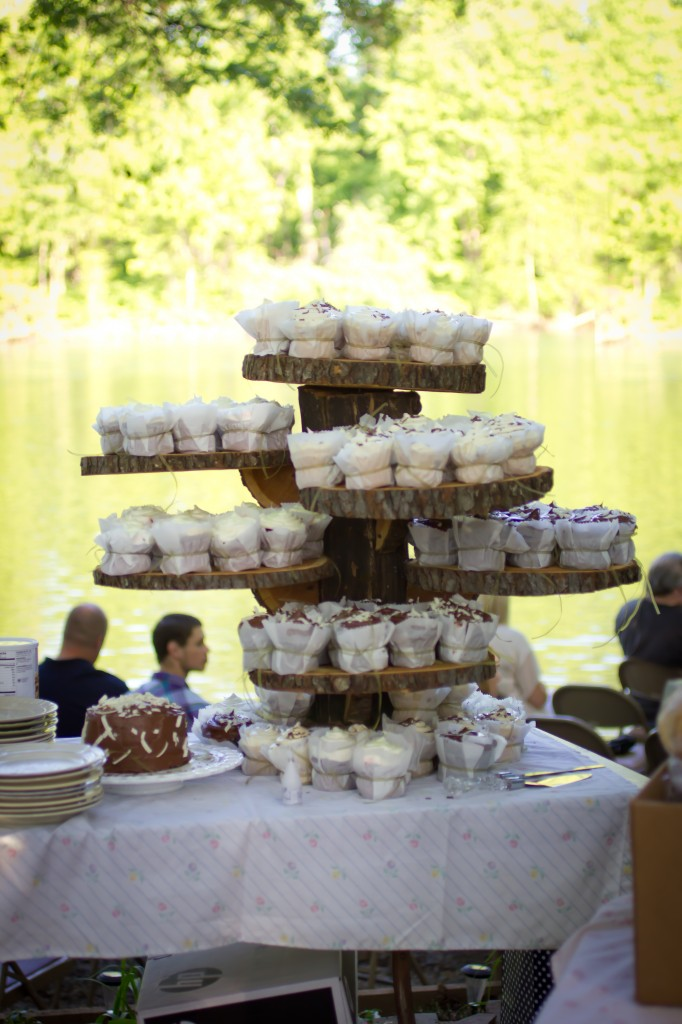 cupcake stand from a tree