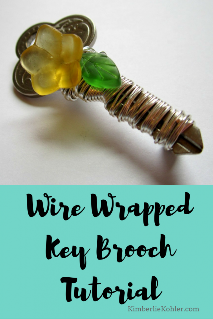 Wire Wrapped Key Brooch Tutorial