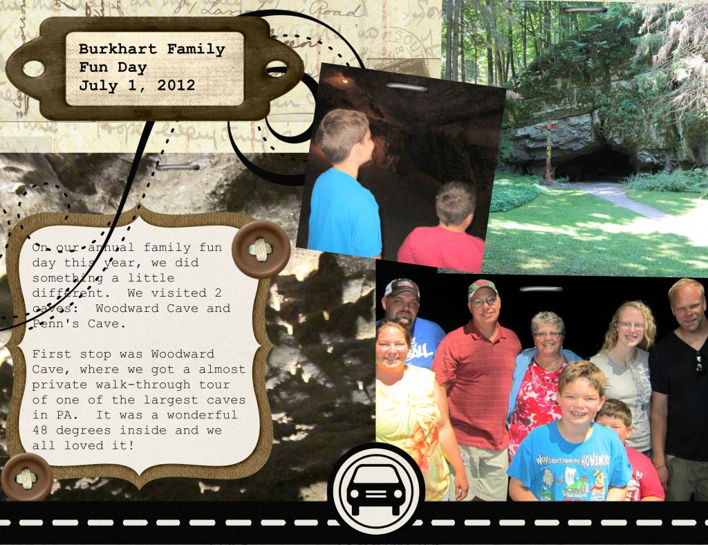 Woodward Cave Digital Scrapbook Page