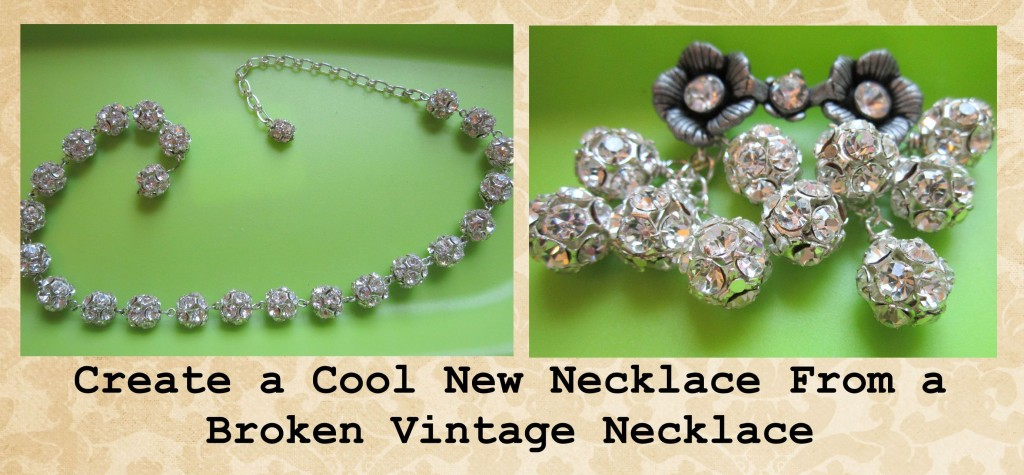 Broken Vintage Necklace Tutorial