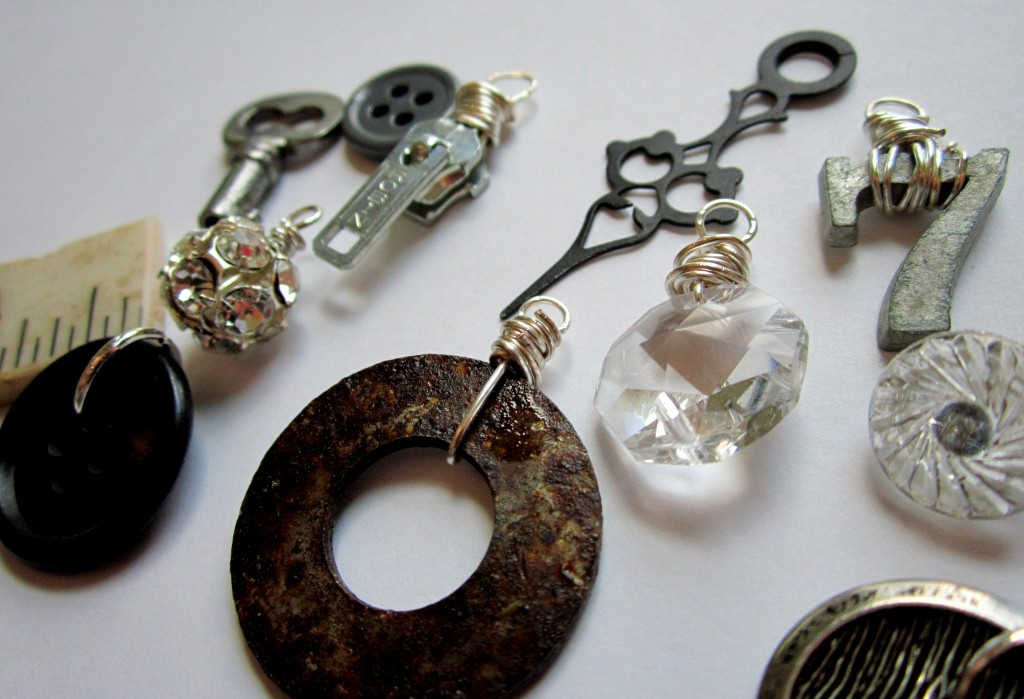 Vintage Elements Charm Necklace in Progress