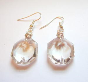 Upcycled Chandelier Crystal Earrings