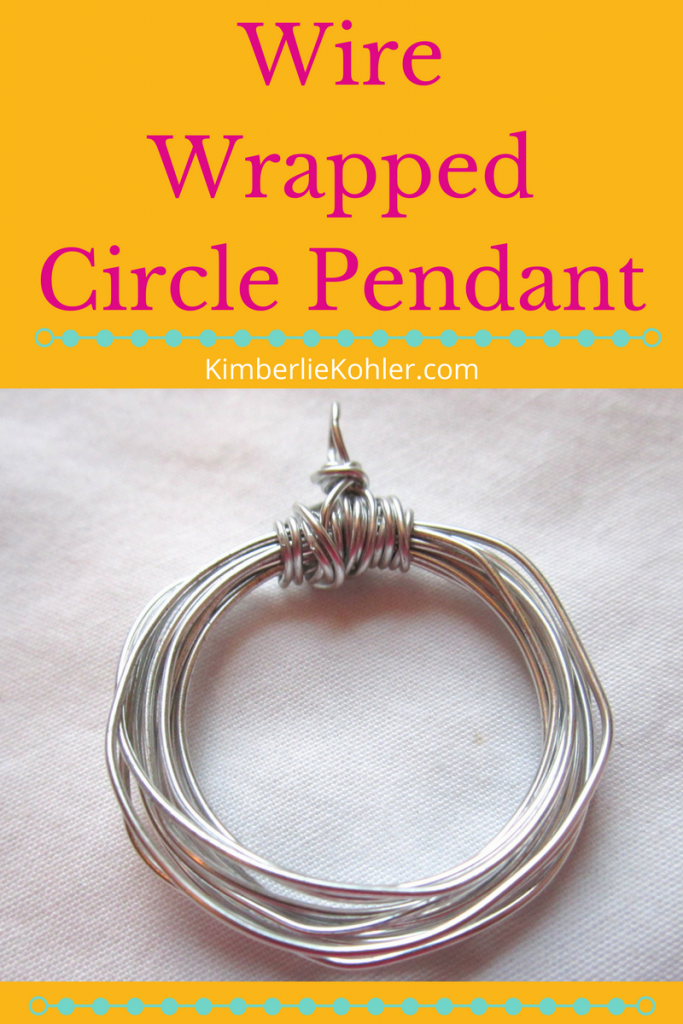 Wire Wrapped Circle Pendant