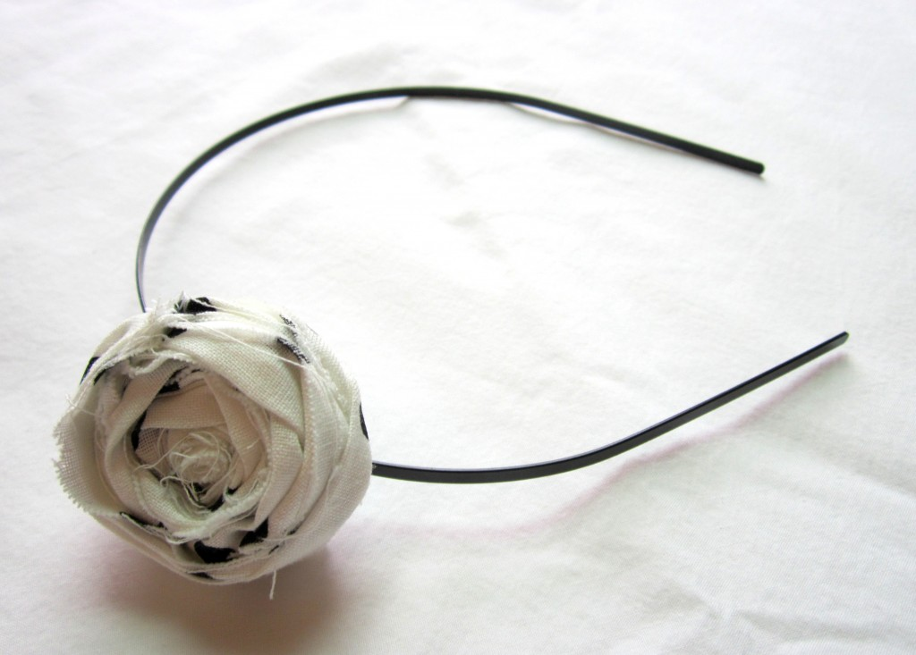 Fabric Rose Brooch Headband Tutorial