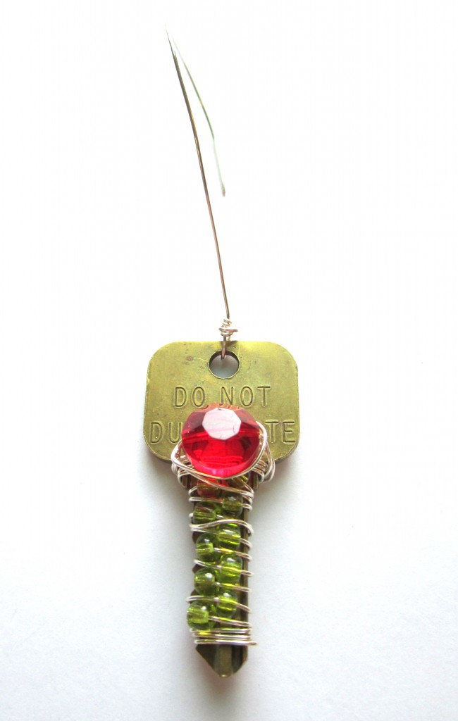 Upcycled Key Ornament Complete