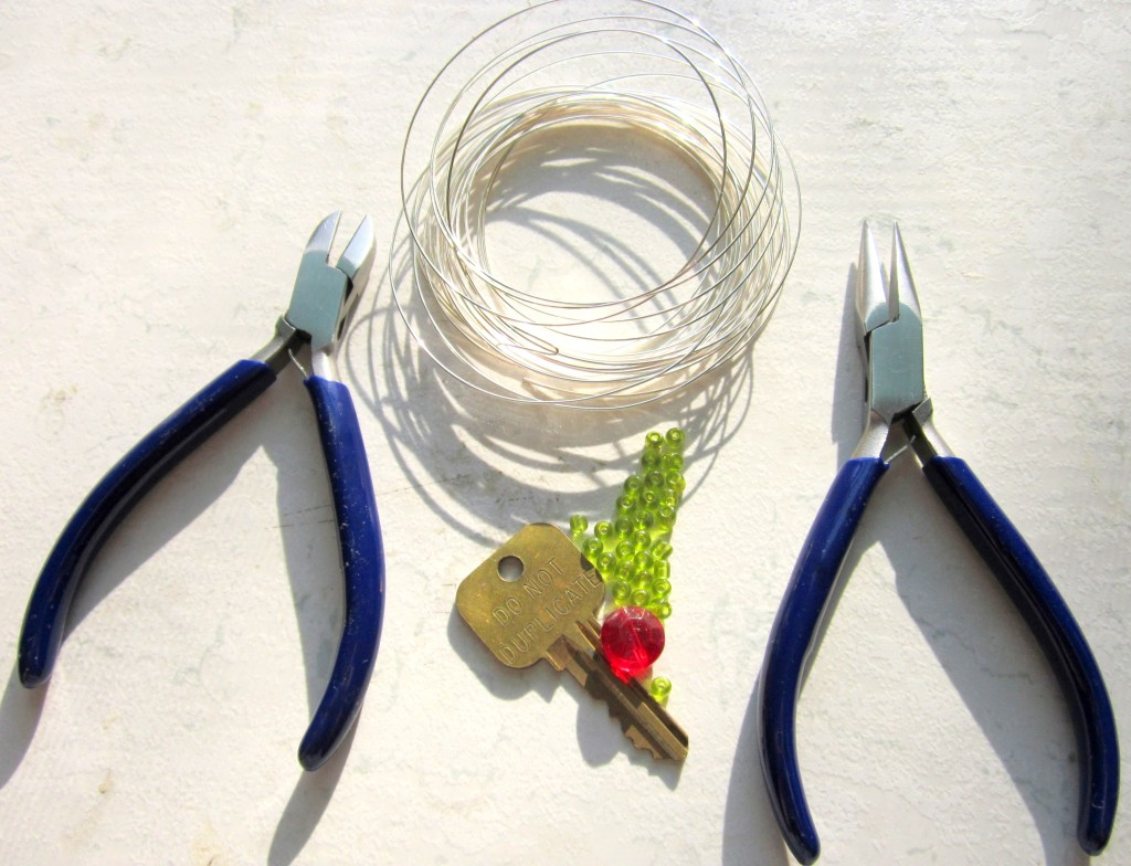 Upcycled Key Ornament Tools and Materials