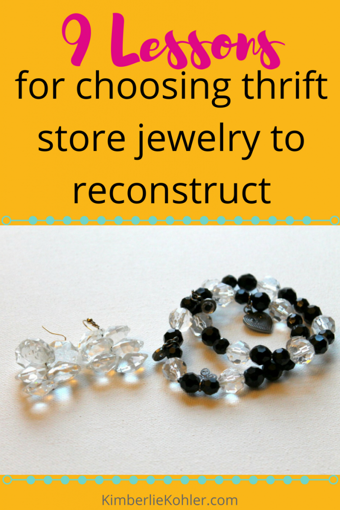 9 Lessons for choosing thrift store jewelry to reconstruct