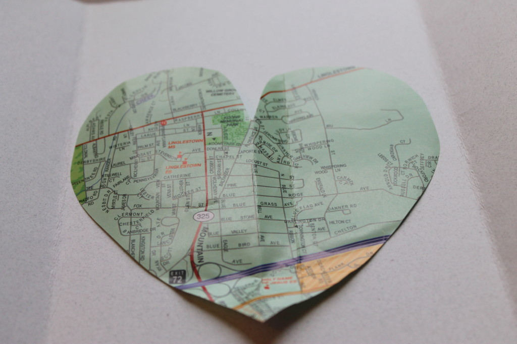 Map Valentine's Day Card Tutorial
