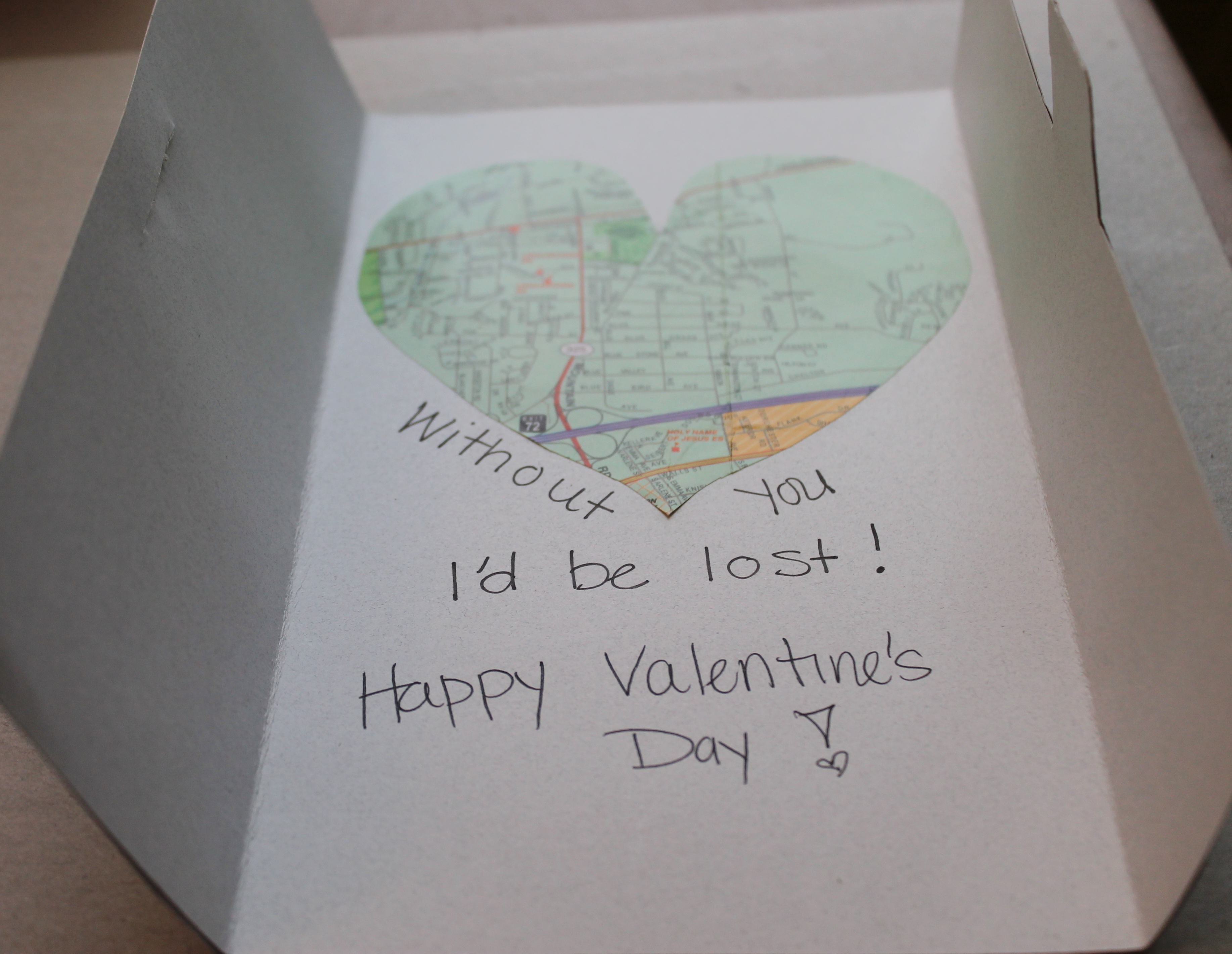 Map Valentines Day Card Tutorial With Tab – What to Write in a Valentine Card