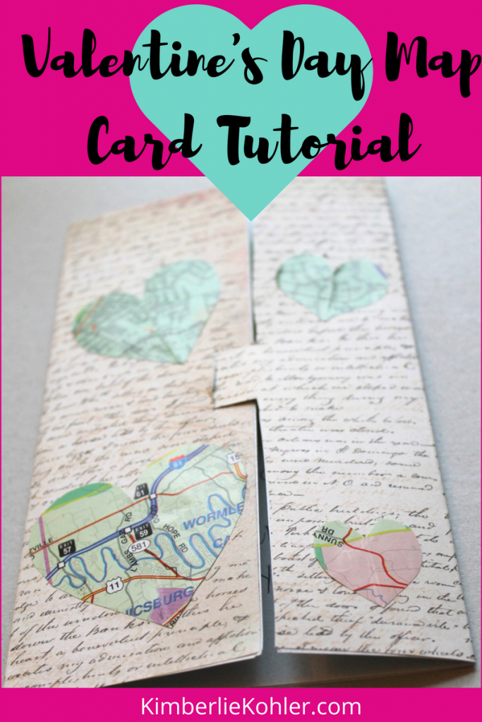 Valentine's Day Map Card Tutorial