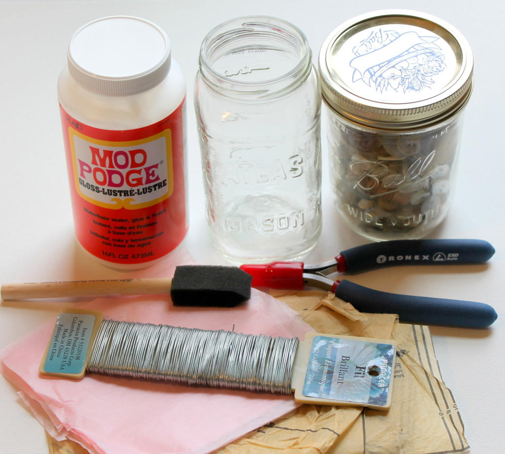 Decoupage Jar Materials