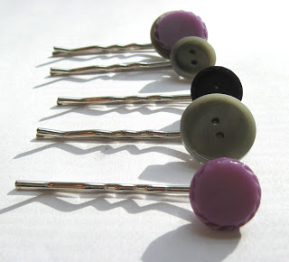 Button Hair Pin Tutorial
