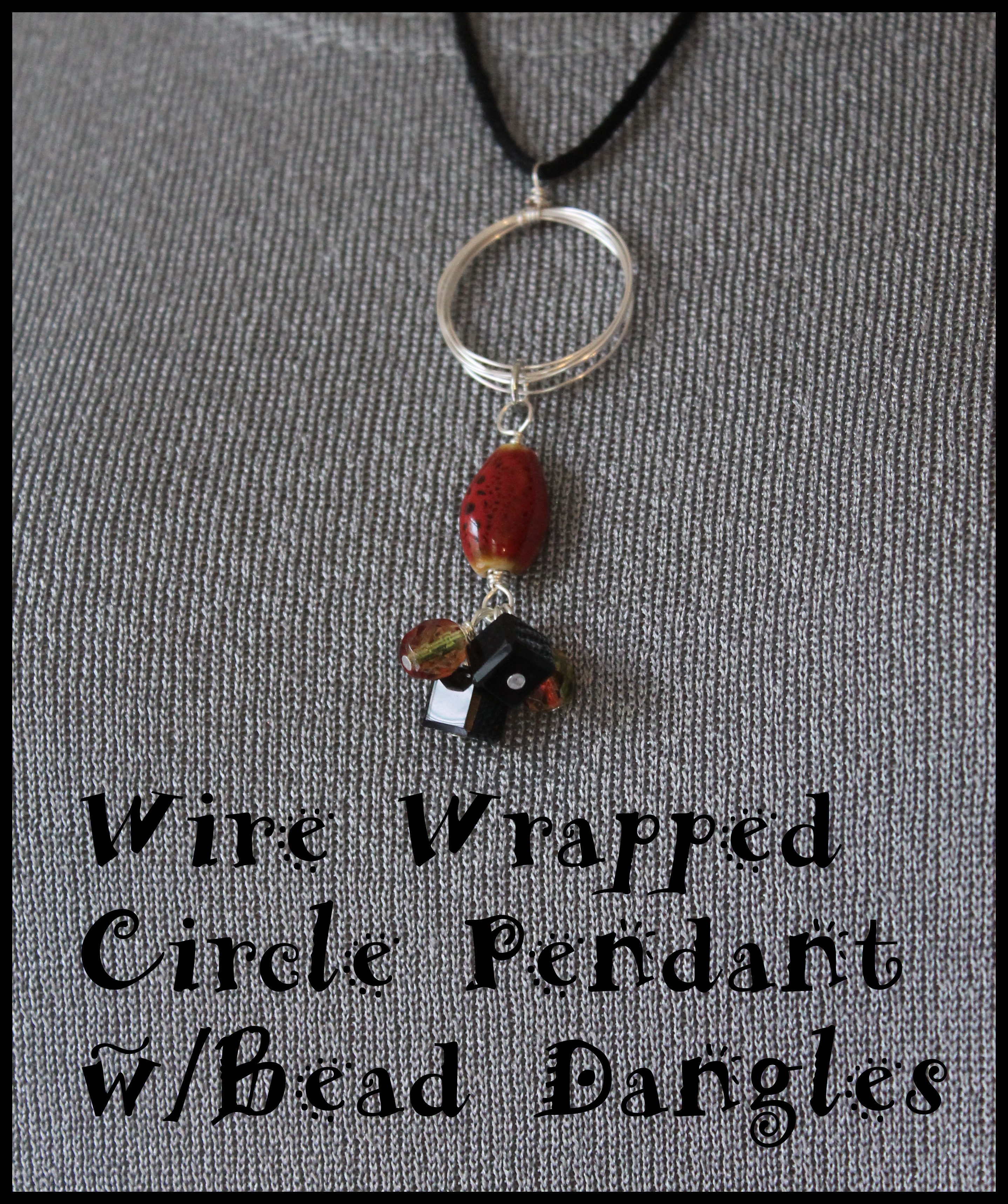 How to make a wire wrapped circle pendant with bead dangles how to make a wire wrapped circle pendant with bead dangles aloadofball Image collections