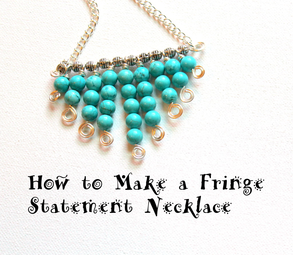 How to Make a Fringe Statement Necklace