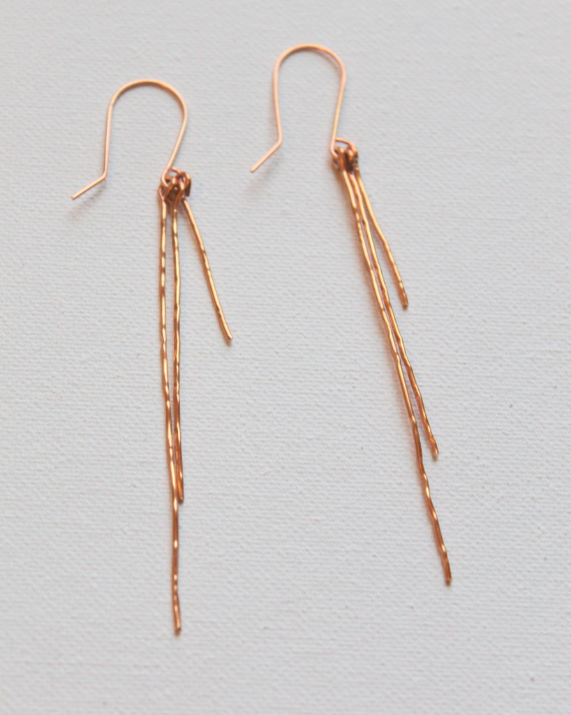 Hammered Wire Earrings Tutorial