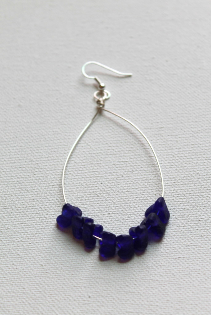 Beaded Hoop Earrings Tutorial