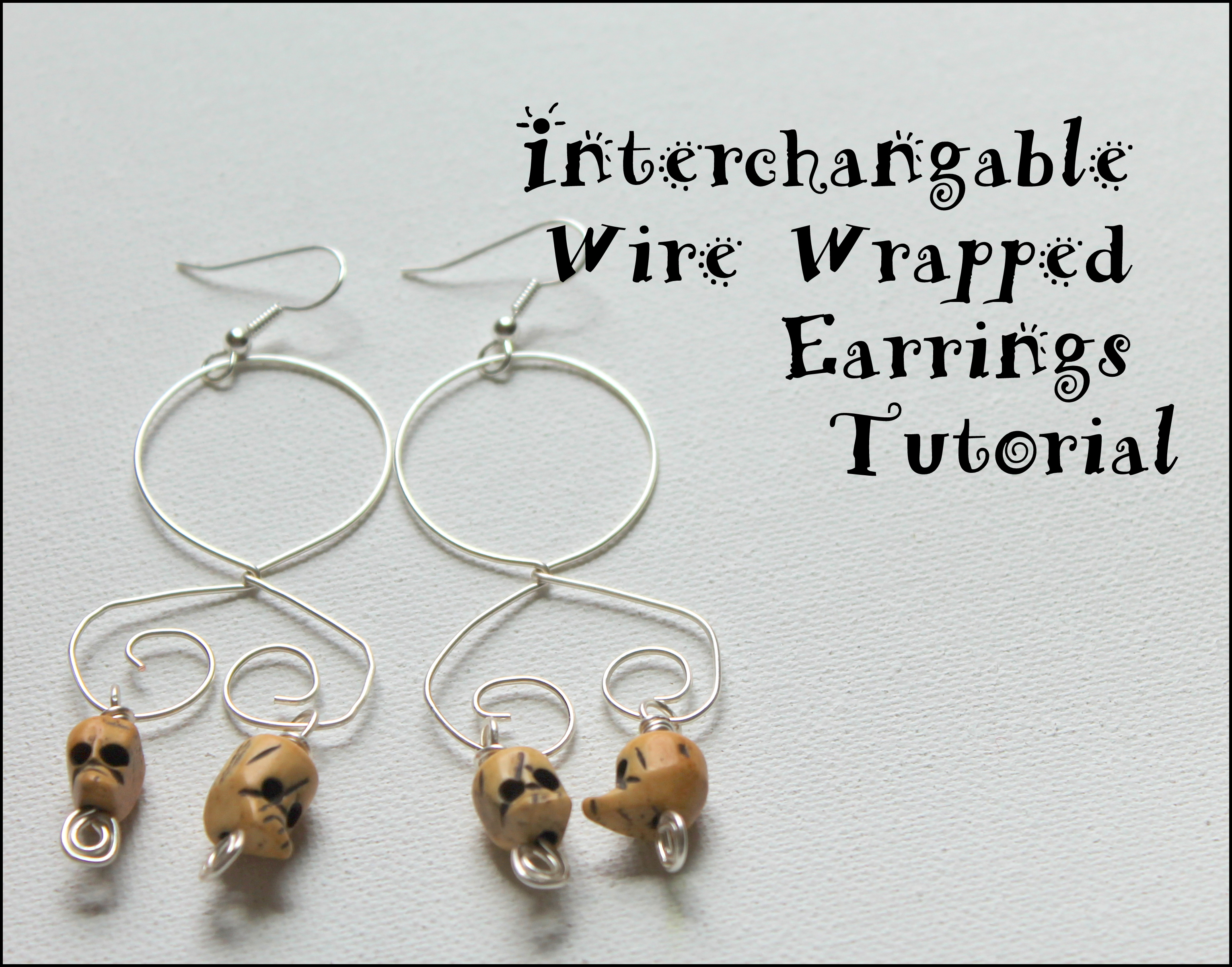 Interchangable Wire Wrapped Earring Tutorial | Emerging Creatively ...
