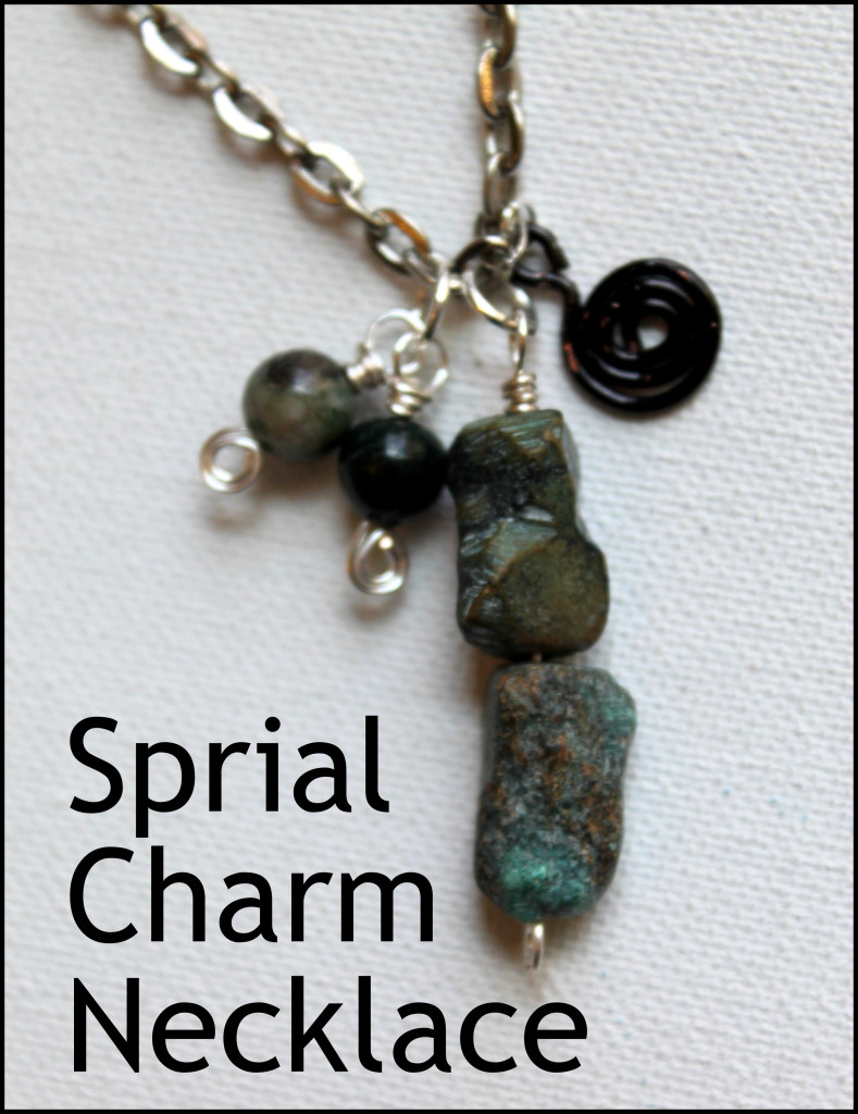Spiral Charm Necklace Tutorial