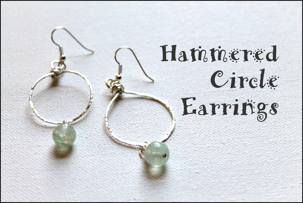Hammered Circle Earrings