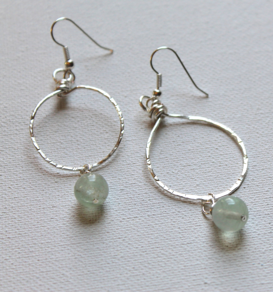 How to Make Hammered Circle Earrings