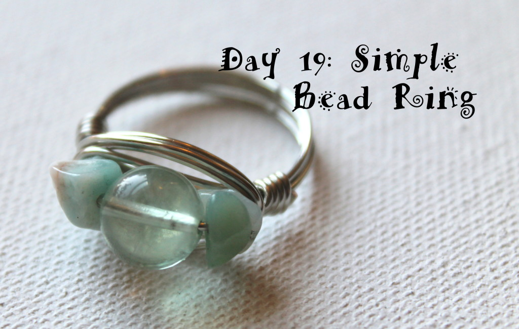Simple Beaded Ring Tutorial