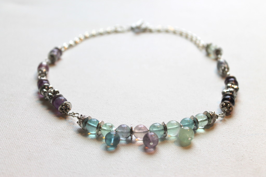 Beaded Necklace with Wire Wrapping Tutorial