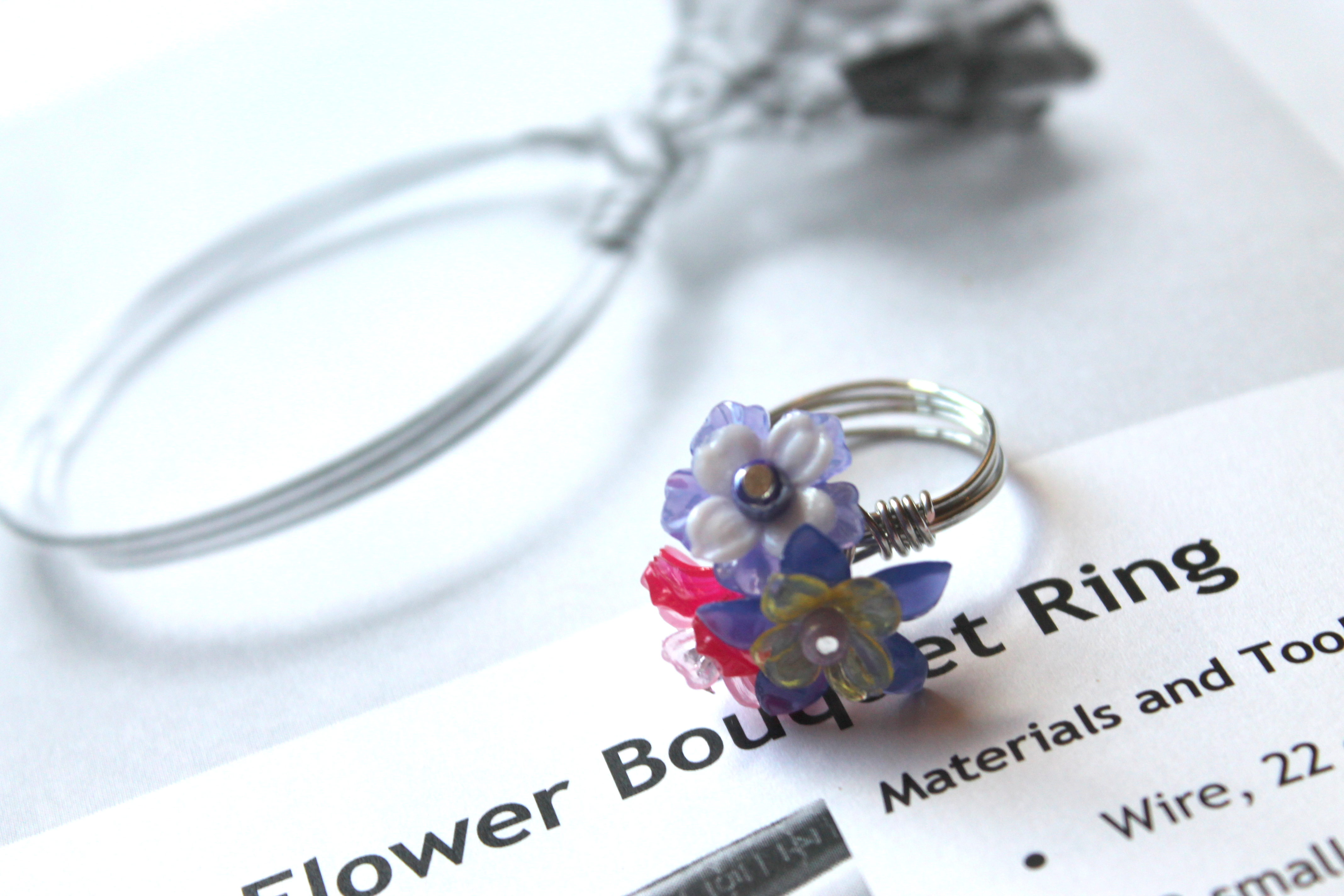 Wire Wrapped Flower Bouquet Ring Tutorial | Emerging Creatively ...