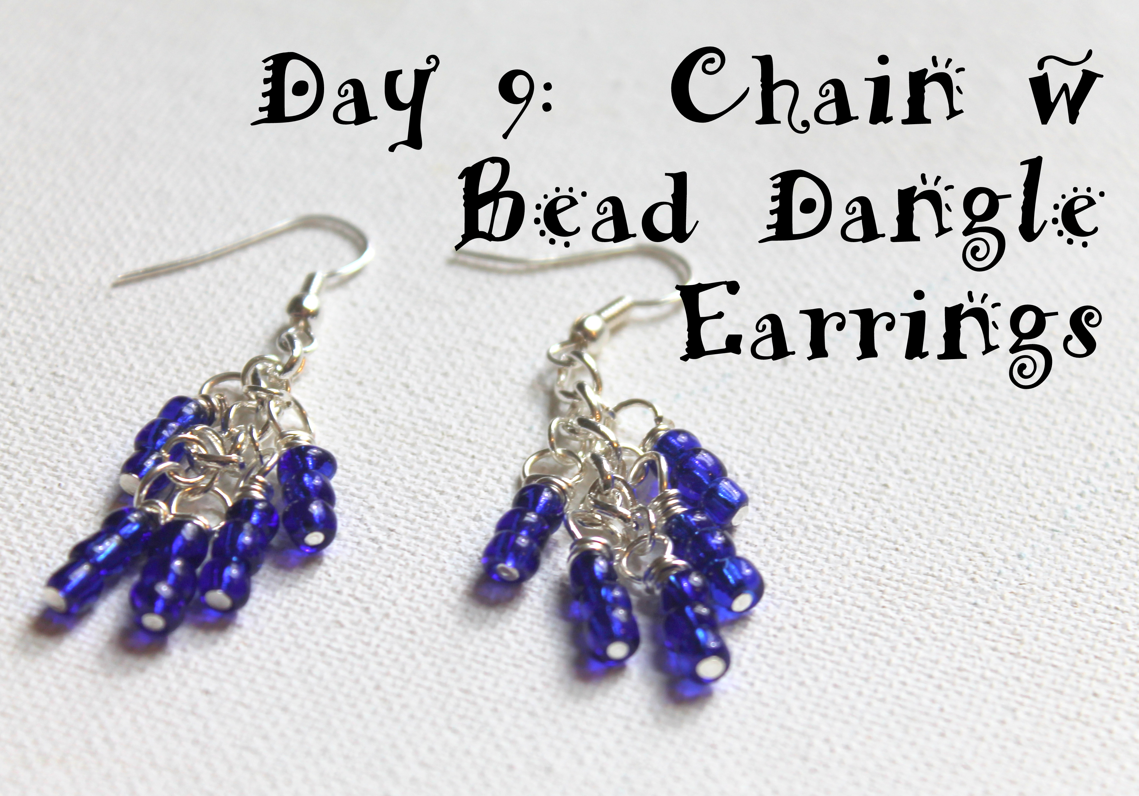 Wire Wrapping for Beginners Day 9: Chain with Bead Dangle Earrings ...
