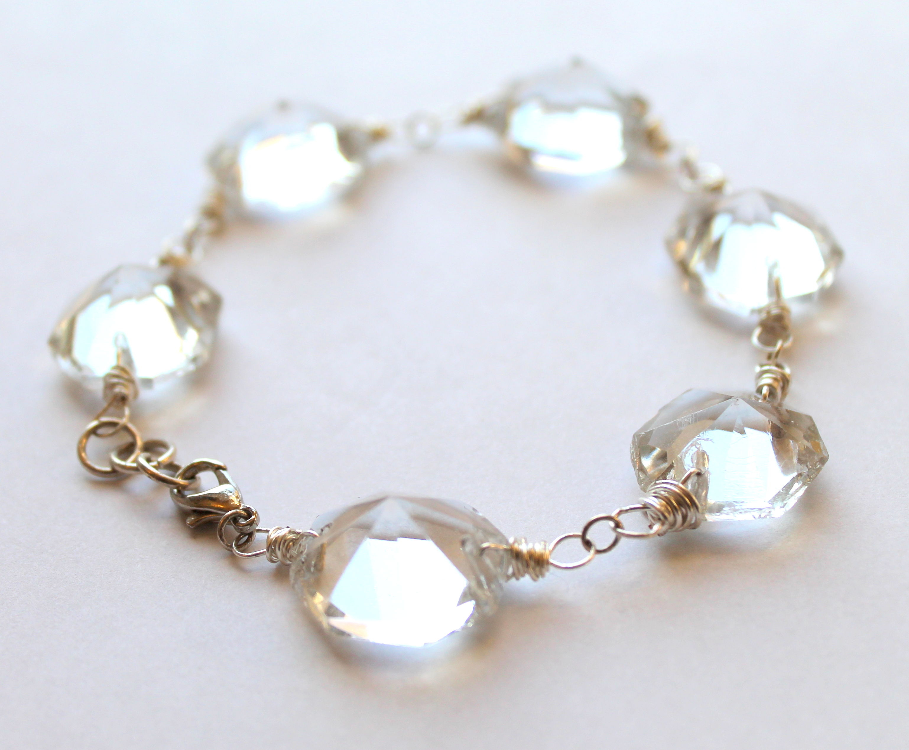 Upcycled crystal chandelier bracelet | Emerging Creatively Jewelry ...