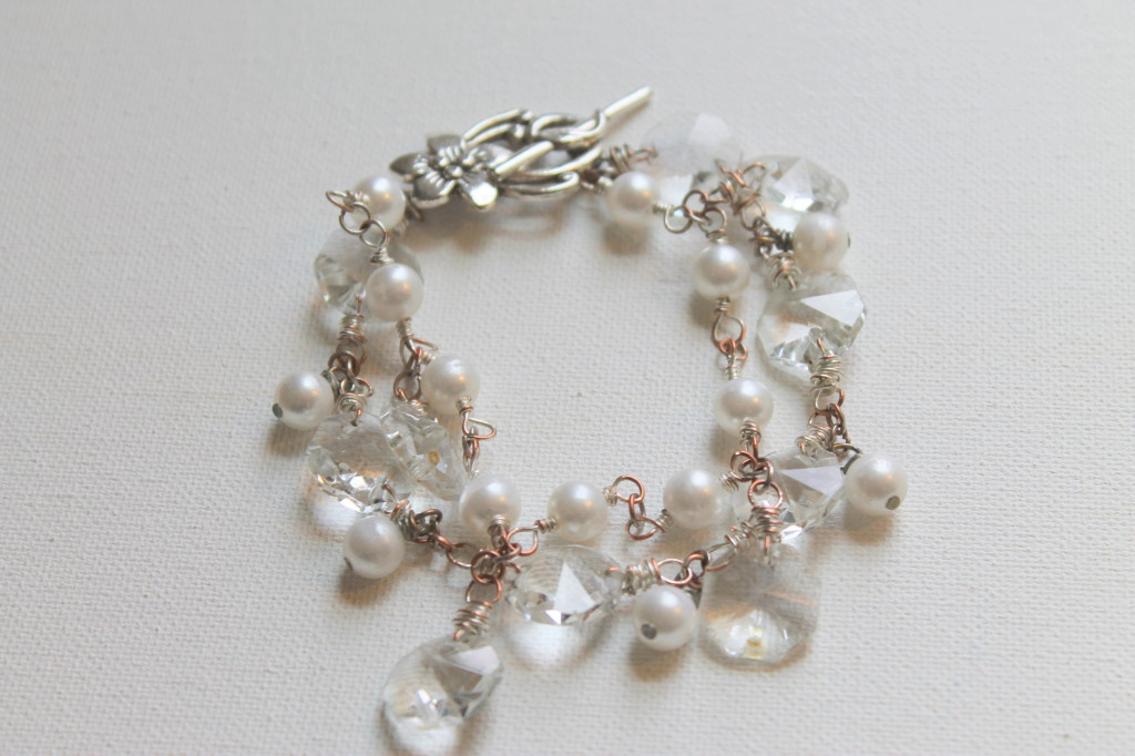 Upcycled Chandelier Crystal Bracelet Tutorial