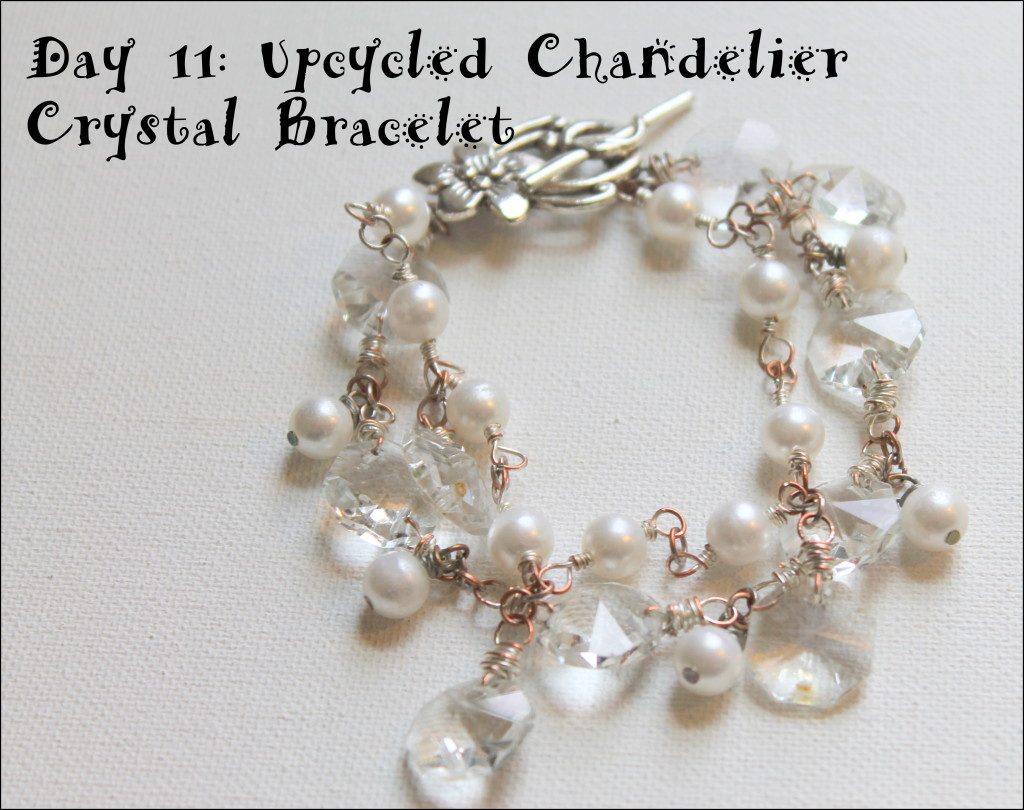 Upcycled Chandelier Crystal Earrings Tutorial
