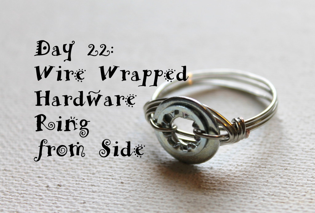 wire wrapped hardware ring