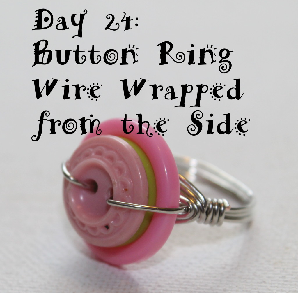 Wire wrapped button ring tutorial