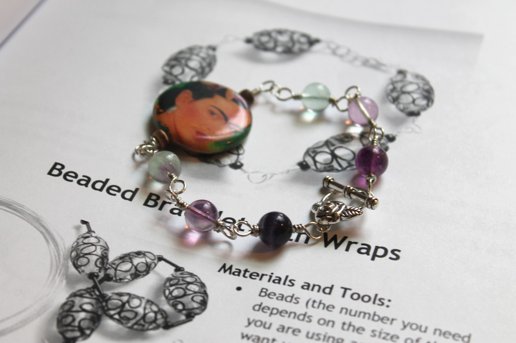 Beaded Bracelet with Wire Wrapped Links Tutorial