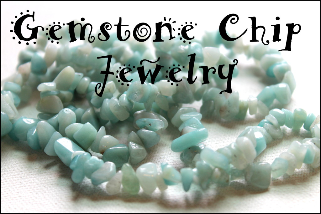 Gemstone chip jewelry