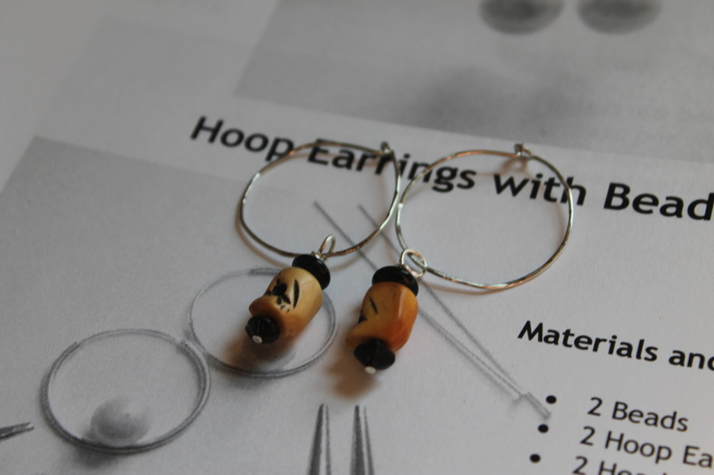 Hoop with Bead Earrings