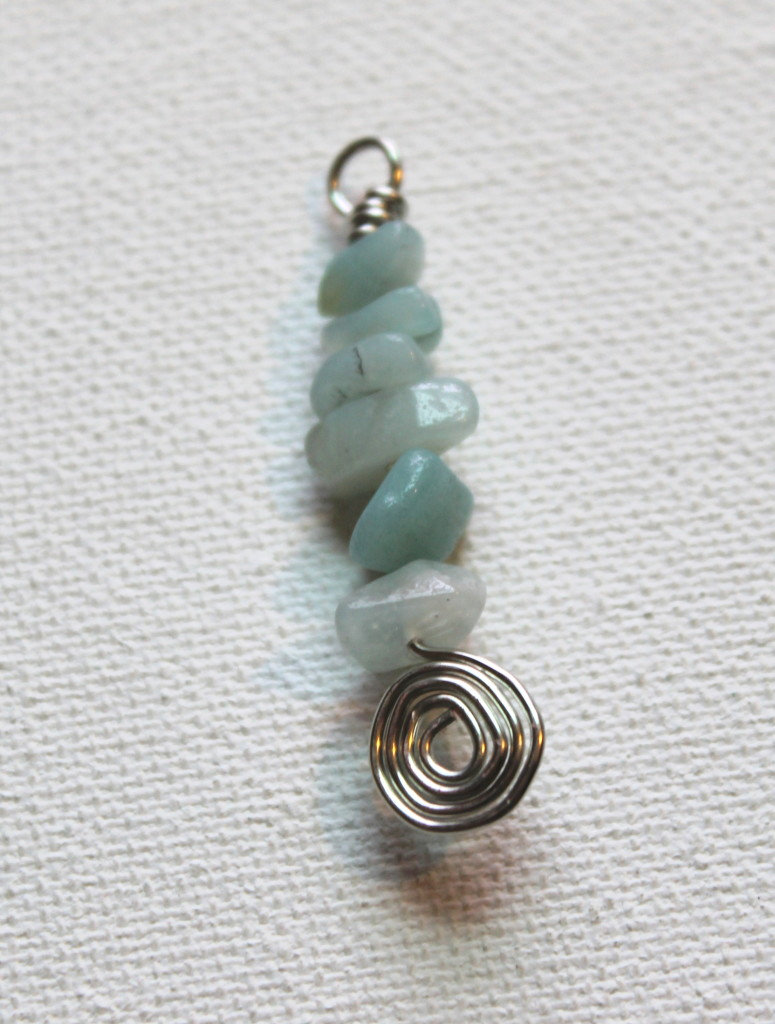 How to Make Spiral and Gemstone Chip Earrings