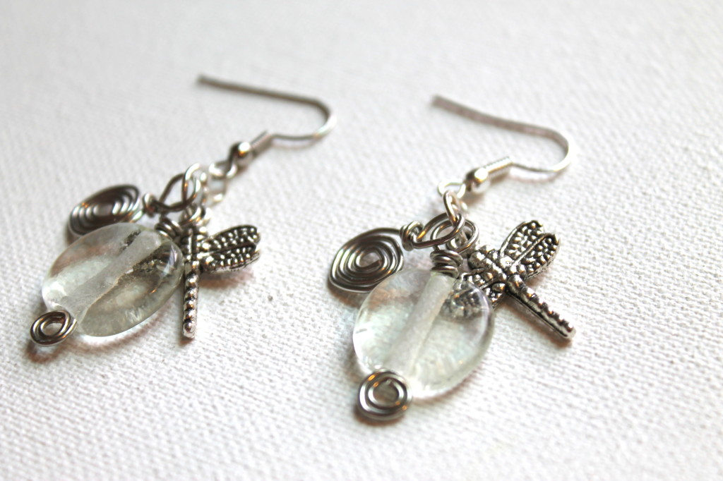 Layered Wire Wrapped Earrings
