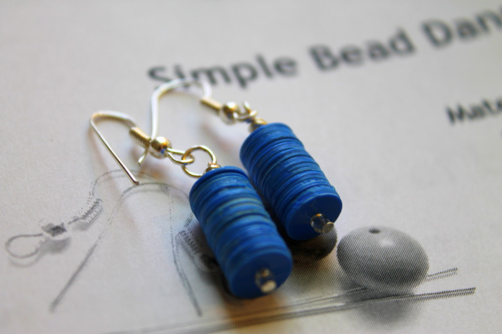 Simple Bead Dangle Earrings