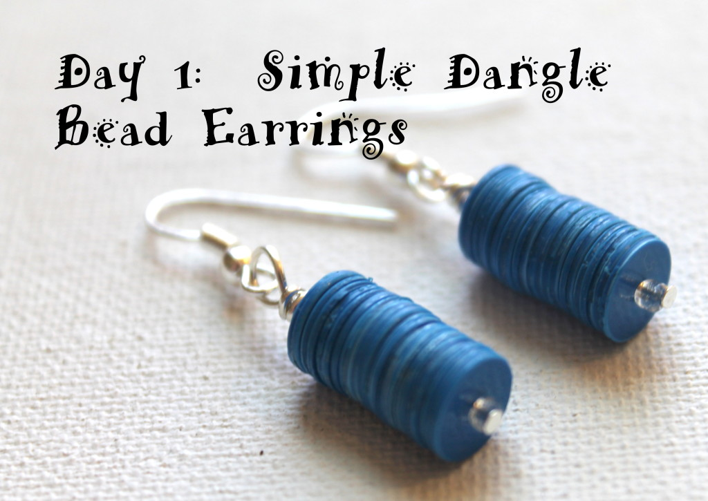 Simple Bead Dangle Earrings 4.