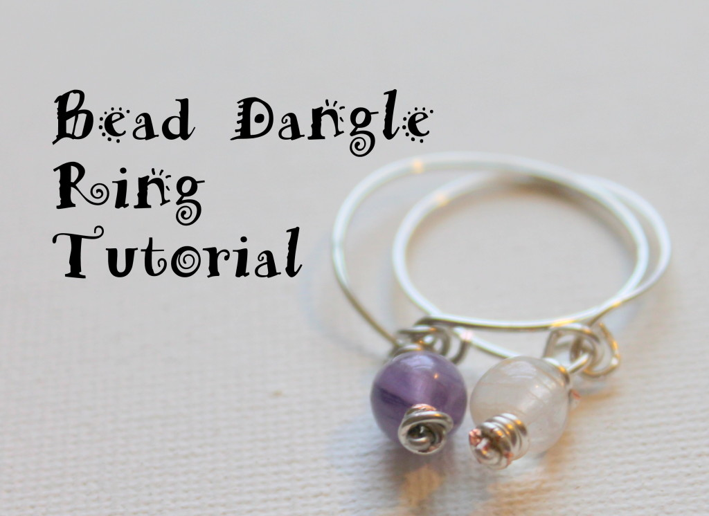Bead Dangle Ring Tutorial