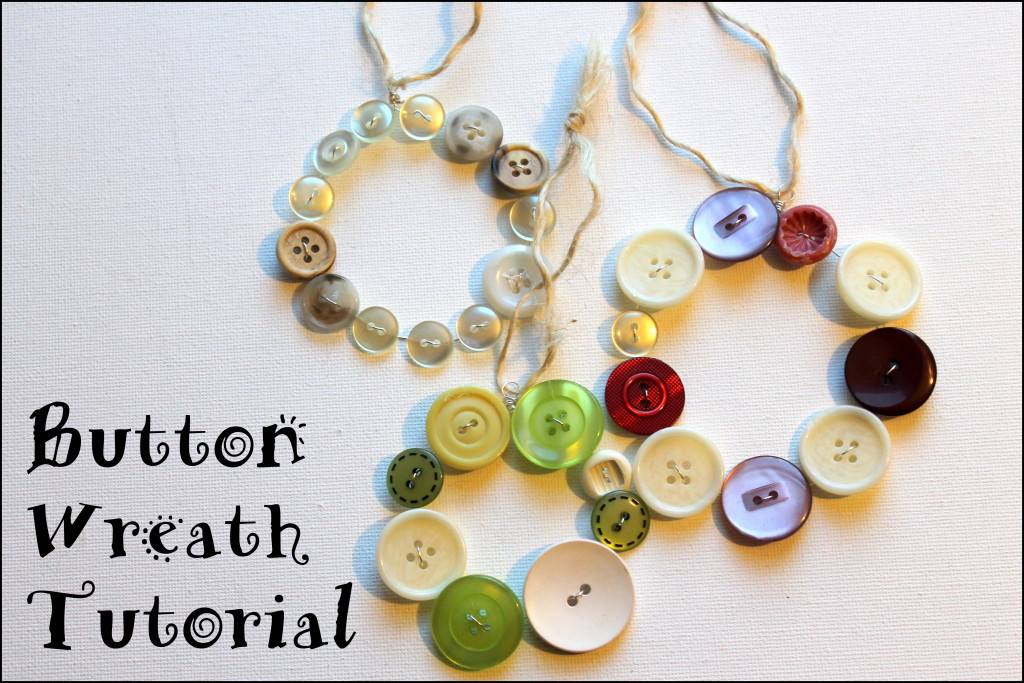 Button Wreath Tutorial