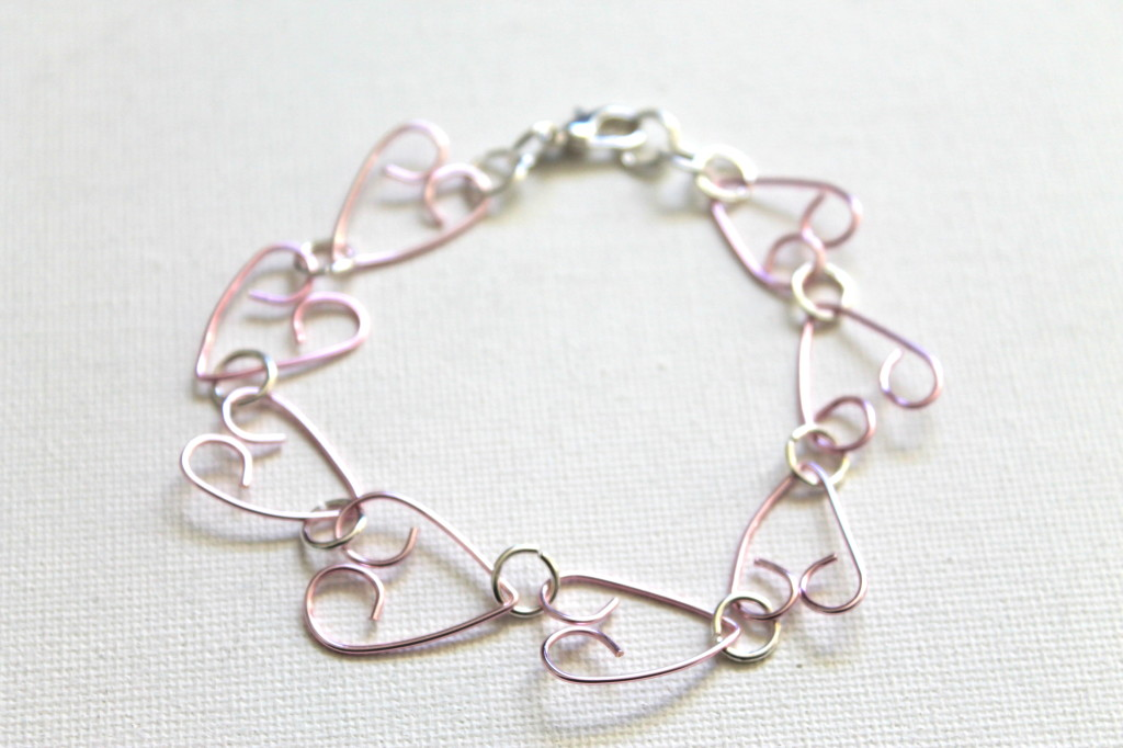 Wire Heart Bracelet Tutorial