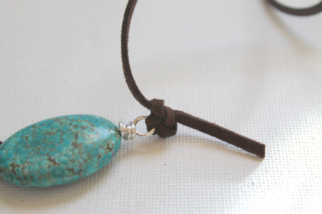 Wood, Turquoise and Cord Necklace Tutorial